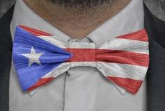 古巴的国旗bowtie商人衣服的 库存例证