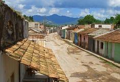 古巴街道视图 免版税库存图片