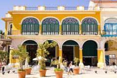 古巴详细资料哈瓦那老方形城镇 库存图片