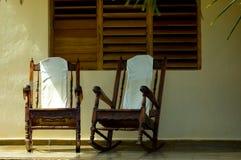 古巴门廊 库存图片