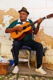 古巴音乐家街道特立尼达 免版税库存图片