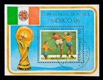 古巴,世界冠军橄榄球墨西哥1986年 免版税图库摄影