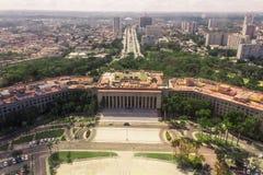 古巴,哈瓦那的历史的首都的鸟瞰图,通过寄生虫 免版税库存图片