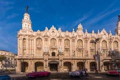 古巴,哈瓦那- 2017年5月5日:哈瓦那盛大剧院的大厦 复制文本的空间 库存图片