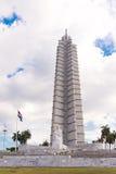 古巴,哈瓦那- 2017年5月5日:纪念碑的看法对何塞马蒂的 复制文本的空间 垂直 库存图片