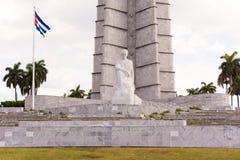 古巴,哈瓦那- 2017年5月5日:纪念碑的看法对何塞马蒂的 复制文本的空间 免版税库存图片