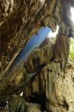 古巴:在Altiplano Topes des Collantes的石形成 免版税库存照片