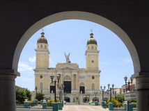 古巴de hall圣地亚哥城镇 库存图片