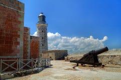 古巴el堡垒哈瓦那morro视图 库存照片