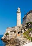 古巴el堡垒哈瓦那morro 库存图片