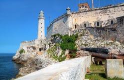 古巴el堡垒哈瓦那morro 图库摄影
