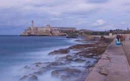 古巴el堡垒morro 库存图片