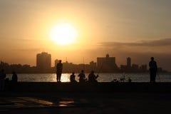 古巴malecon 库存图片
