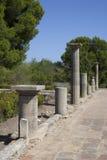 古希腊专栏在Empuries 免版税库存图片