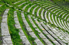 古希腊剧院的Theatron 免版税库存照片