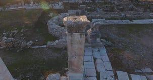 古希腊和古老罗马废墟在土耳其 股票视频