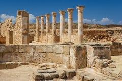 古希腊和罗马市的废墟帕福斯 免版税库存照片
