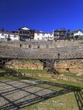 古希腊圆形剧场在奥赫里德 免版税图库摄影