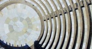 古希腊圆形露天剧场在Ios海岛,希腊 免版税库存图片