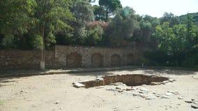 古希腊城市在当前天在伊兹密尔,土耳其 股票视频