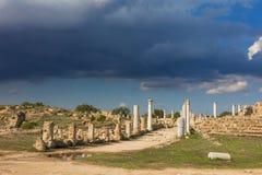古希腊城市废墟  免版税图库摄影