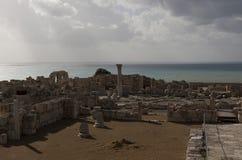古希腊城市的废墟在塞浦路斯 库存图片