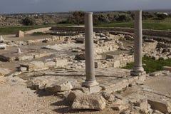 古希腊城市的废墟在塞浦路斯 免版税库存图片