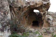 古希腊城市的废墟在塞浦路斯 免版税库存照片