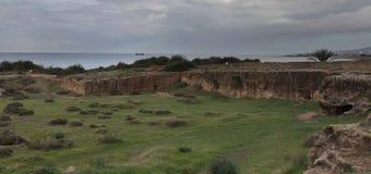 古希腊城市的废墟在塞浦路斯 图库摄影
