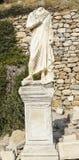古希腊城市以弗所的废墟 免版税图库摄影