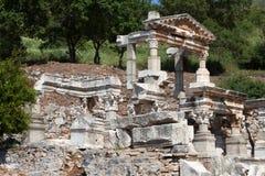 古希腊城市以弗所 免版税图库摄影