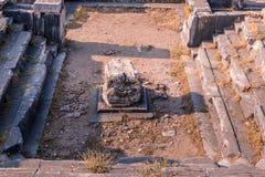 古希腊市废墟Priene 库存图片