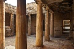 古希腊废墟在塞浦路斯 库存照片