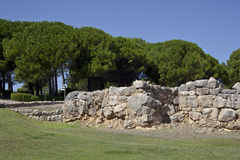 古希腊废墟在Empuries 图库摄影