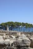 古希腊废墟在Empuries 免版税库存图片