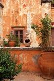 古希腊庭院 库存图片