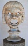 古希腊戏剧面具 库存照片