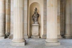 古希腊战士历史的雕塑在勃兰登堡G内的 库存照片