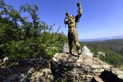 古希腊英雄神话的纪念碑 免版税图库摄影