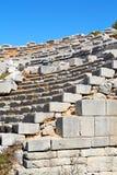 古庙和剧院termessos安塔利亚火鸡亚洲天空的 图库摄影