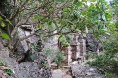 古庙在密林,北越南 免版税库存照片
