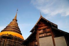 古庙在泰国 库存图片