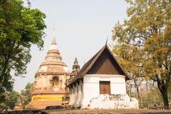 古庙在清迈 免版税库存图片