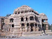 古庙在瓜廖尔/印度 库存图片