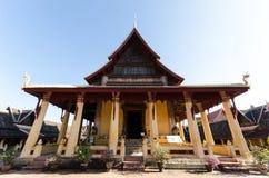 古庙在老挝 免版税图库摄影