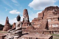 古庙在阿尤特拉利夫雷斯,泰国 库存照片