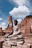 古庙在阿尤特拉利夫雷斯,泰国 图库摄影