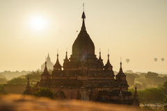 古庙在Bagan,缅甸 库存照片