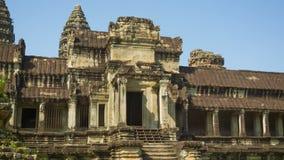 古庙废墟在柬埔寨 吴哥窟 库存照片