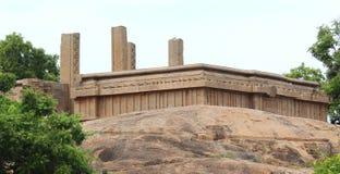 古庙废墟 库存照片